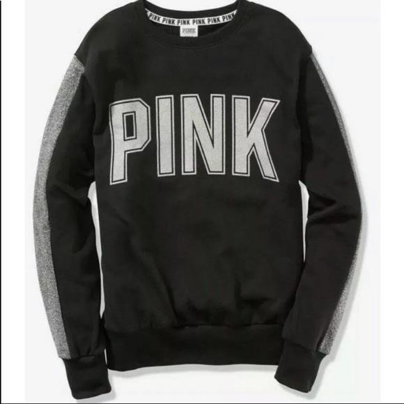 Pink Victoria's Secret bling sweatshirt NWT